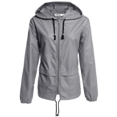 Jual Cyber Meaneor Women S Lightweight Waterproof Outdoor Hoodie Raincoat Cycling Running Sport Jacket Grey Intl Original