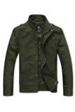 Promo Cyber Men Slim Fit Casual Zipper Design Jacket Army Green Indonesia