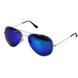 Toko Cyber Pria Unisex Reflektif Colorful Sunglasses Biru Indonesia