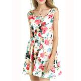Spesifikasi Cyber Baru Fashion Kasual Wanita Tanpa Lengan Chiffon Cetak Mini Short Dress Online