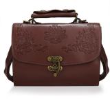 Beli Cyber Fashion Wanita Baru Kulit Sintetis Gaya Vintage Belt Bag Casual Retro Handbag Coklat Cicil
