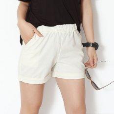 Harga Cyber S*Xy Girls Ladies Women Solid Elastic Pinggang Celana Pendek Kasual Celana Putih Unbranded Baru
