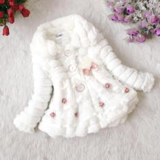 Toko Cyber Anak Anak Balita Gadis Junoesque Baby Faux Fur Fleece Lined Coat Partai Kontes Jaket Hangat Musim Dingin Snowsuit Putih Terlengkap Hong Kong Sar Tiongkok
