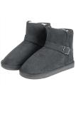 Diskon Cyber Wanita Musim Dingin Fashion Faux Fur Suede Eva Solid Hangat Short Snow Boots Abu Abu Oem