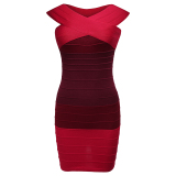 Beli Cyber Zeagoo Wanita S*xy Off Bahu Merajut Dibalut Bodycon Stretch Mini Dress Merah Online Indonesia