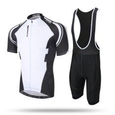 Bersepeda Jersey Set Mtb Lengan Pendek Sportwear Sepeda Bersepeda Pakaian Hitam Intl Asli