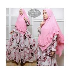 CYM Syar'i monalisa Zalora (Blue,black,brown,pink) baju muslim
