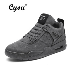 Cyou 2017 Baru Rendah Memotong Sepatu Lari Pria Olahraga Sneakers Asli Olahraga Luar Ruangan Datar Run Berjalan Jogging Trendi Sepatu Kasut lelaki (Grey) -Internasional