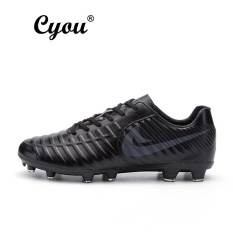 Toko Cyou New Arrival Plus Size Eur 37 49 Mens Short Nail Training Football Shoes High Quality Comfortable For Men Kasut Bola Sepak Lelaki Black Intl Murah Di Tiongkok