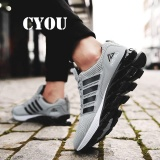 Jual Cyou Super Keren Bernapas Menjalankan Sepatu Pria Sneakers Bounce Summer Outdoor Sport Shoes Pelatihan Profesional Sepatu Lelaki Berjalan Kasut Grey Intl Tiongkok Murah