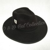 Review D D Collection Women Men Fedora Panama Bowler Wide Brim Hat Gangster Cap Topi Fedora Brim Lebar Hitam