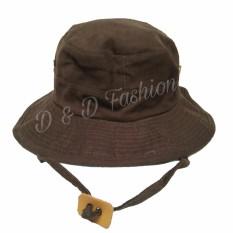 D & D Fashion Unisex  Jungle Hat / Topi Rimba Dewasa - Coklat