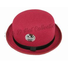 D & D Hat Collection Bowler Hat / Topi Fedora Bowler Chaplin Dewasa New Edition – Marun