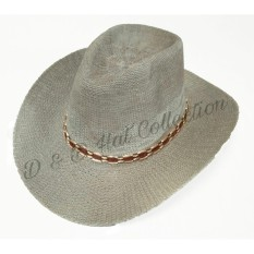 D & D Hat Collection Topi Cowboy Dewasa Bahan Rajut - Abu