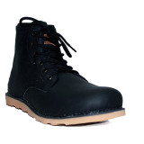 Review D Island Shoes Boots Genuine Leather Black Di Jawa Barat