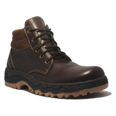 Diskon D Island Shoes Boots Mens Rocky Leather Cokelat Tua