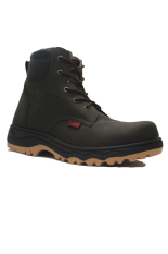 Beli D Island Shoes Boots Safety High Urban Leather Dark Brown