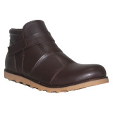 Diskon D Island Shoes Boots Slip On Leather Cokelat Gelap D Island Jawa Barat