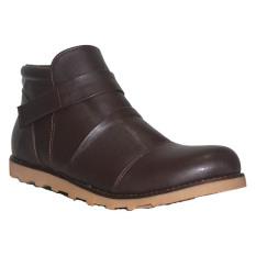 Jual D Island Shoes Boots Slip On Leather Cokelat Gelap Di Bawah Harga