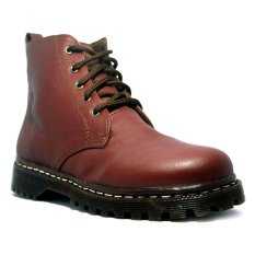 Harga D Island Shoes Ladies Boots Chunky High Cokelat Murah