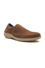 Promo Toko D Island Shoes Slip On Chukka Suede Leather Soft Brown