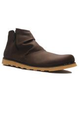 D Island Shoes Slip On Zipper Comfort Boots Brown Terbaru