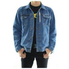 D1NY Collection Jaket Denim Jeans Ariel Pria Biru Bio Blitz