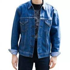 D1NY Collection Jaket Denim Jeans Ariel Pria Biru Bio Wash