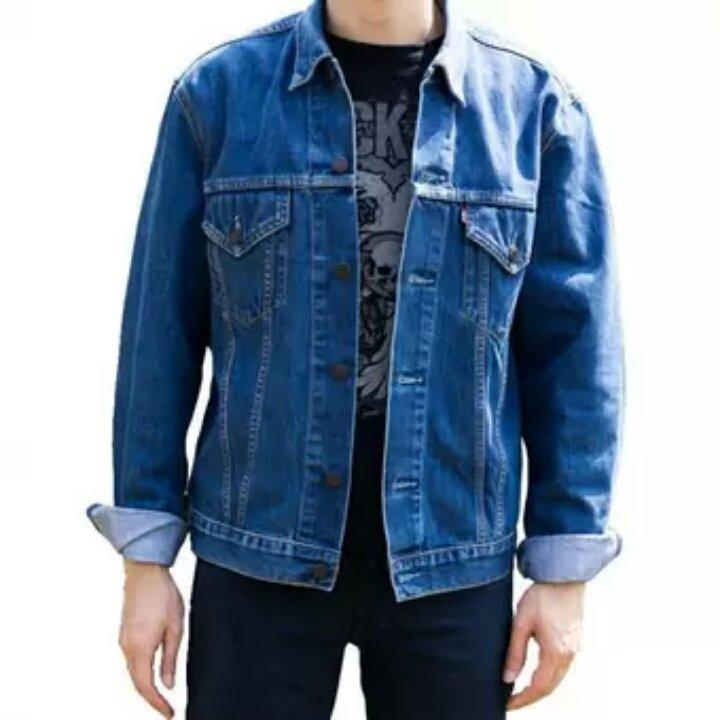 Jaket Jeans Denim Termurah D1NY Collection Jaket Denim Jeans Ariel Pria Biru Bio Wash
