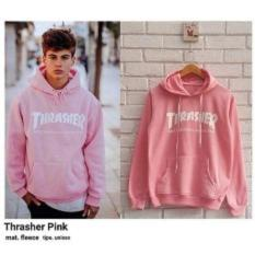 Toko Daffa Sweater Pria Thrasher Pink Online Terpercaya