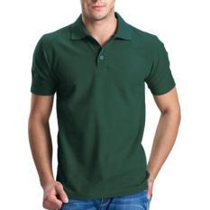 Dahlia Kaos Polos Polo Shirt Pria Lengan Pendek - Hijau Army