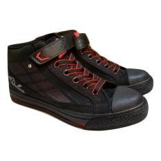 Laphiko Sepatu Sekolah Sneakers Unisex Hitam - Dallas 707