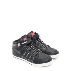 Dallas Sepatu Sneakers Boot Pria Wanita Velcro Country - Hitam/Putih Size 37-42