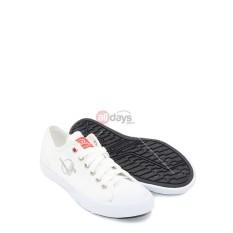 DALLAS Sepatu Sneakers Casual Kanvas Pria Wanita CAMPUS LC - White/Grey 37-42