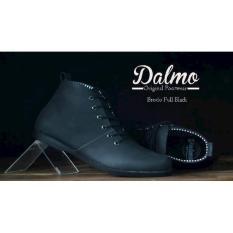 Dalmo Brodo Full Black / Sepatu Murah / Diskon / Casual / Formal / Boots / Touring / Tracking / Adventure / Promo