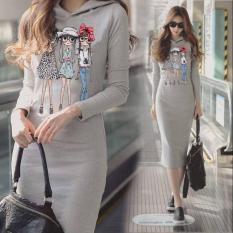 DAMAI FASHION JAKARTA - dress AGNES hoodie - konveksi tanah abang
