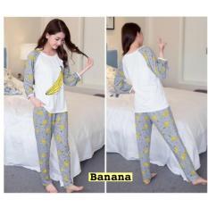 Damai fashion - piyama banana - baju tidur pisang