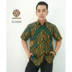 Danar Hadi Hem Batik Reguler Fit 0940 Hijau Kuning