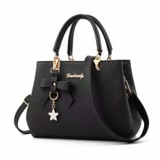 Beli Barang Danbaoly Elegant Romance Handbag Black Online