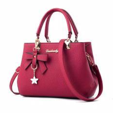 Diskon Danbaoly Elegant Romance Handbag Red Akhir Tahun