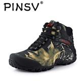 Promo Danji Pria Olahraga Outdoor Bernapas Tahan Air Hiking Sepatu Boots Grey Tiongkok