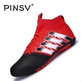 Tips Beli Danji Pria Outdoor Sepak Bola Boots Turf Indoor Sepak Bola Futsal Sepatu Merah