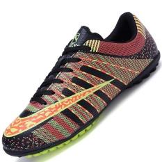 Diskon Danji Men S Outdoor Sepak Bola Boots Turf Indoor Sepak Bola Futsal Shoes Hitam Intl