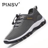 Toko Jual Danji Pria Sepatu Bernapas Hiking Sepatu Olahraga Grey Intl