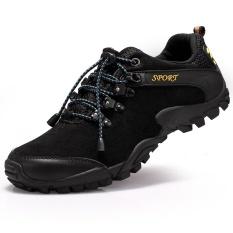 Beli Danji Mens Sport Dan Outdoor Hiking Sepatu Hitam Intl Lengkap
