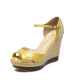 Dapatkan Segera Daphne Baru Anyaman Sandal Summer Lemon Kuning 143 Sepatu Wanita Sendal Wanita