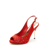 Review Daphne Batu Kristal Air Bertumit Tinggi Mulut Ikan Perempuan Sandal Summer Sandal Summer Merah 107 Sepatu Wanita Sendal Wanita