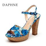 Jual Beli Daphne Kasual Musim Semi Dan Musim Panas Tipis Cetak Tinggi Dengan Sandal Biru 114