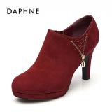 Daphne Modis Batu Kristal Air Lulur Mulut Dalam Sepatu Tahan Air Sepatu Wanita Merah Tua 124 Original