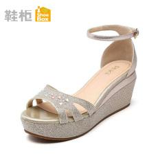 Kualitas Daphne Modis Lemari Sepatu Horizontal Sabuk Bertumit Tinggi Sandal Summer Emas 120 Shoe Box